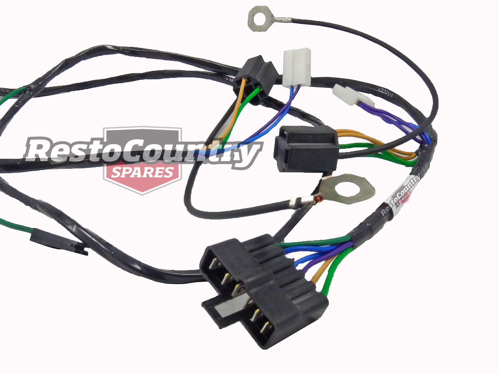 holden single headlight  horn wiring loom    harness hx hz