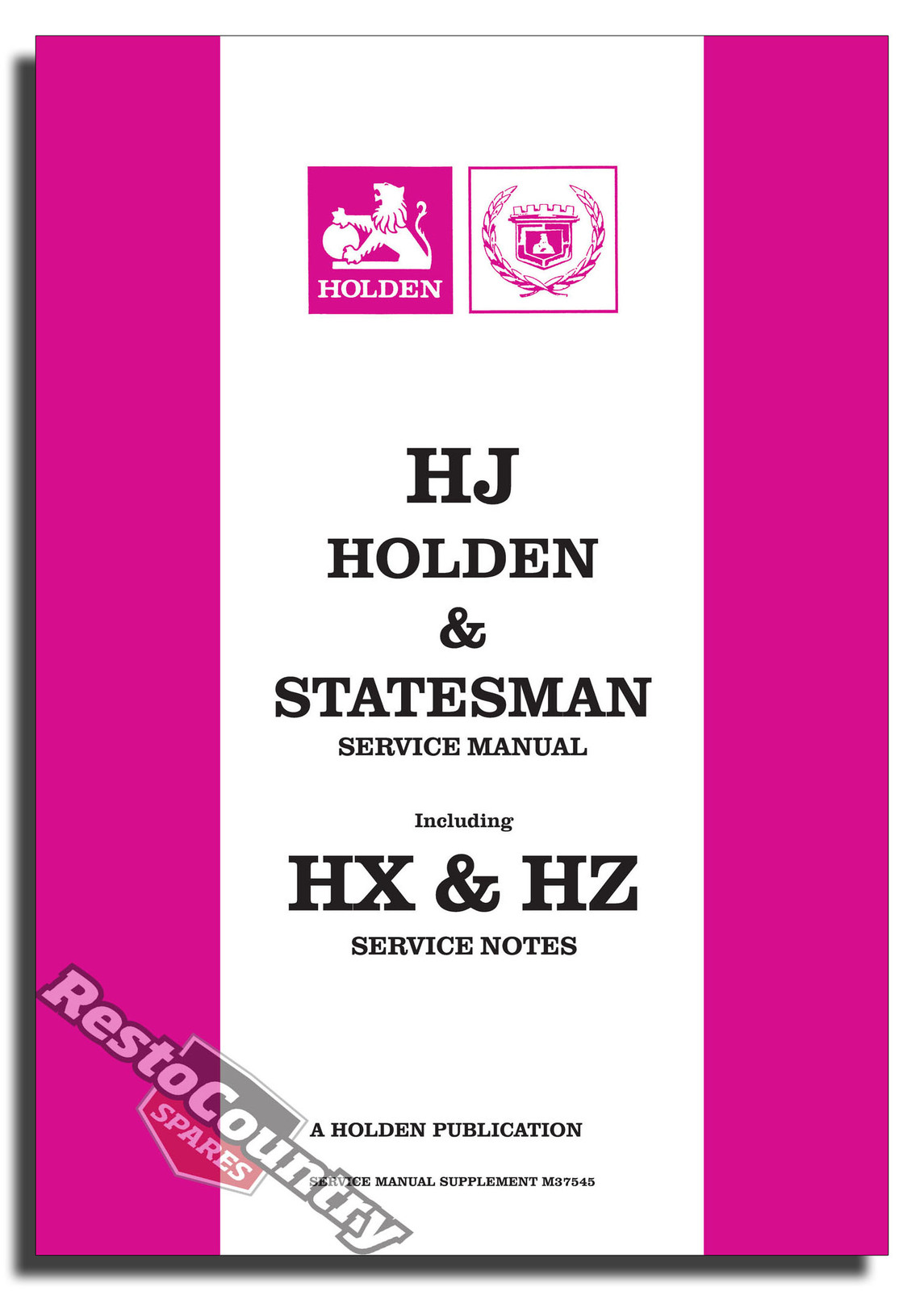 Holden Gmh Factory Hj Hx Hz M37545 Supplement Service