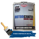 KBS Motor Coater Engine Enamel 500mls FORD CORPORATE BLUE High Temperature Paint