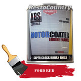 KBS Motor Coater Engine Enamel 500mls FORD RED High Temperature Paint