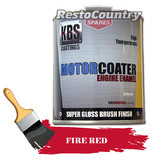 KBS Motor Coater Engine Enamel 500mls FIRE RED High Temperature Paint