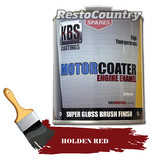 KBS Motor Coater Engine Enamel 500mls HOLDEN RED High Temperature Paint