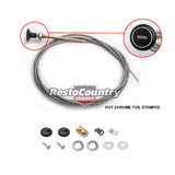 Holden Bonnet Release Cable +Fitting Kit +Grommet HK HT HG Chrome Stamped