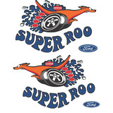 Ford XW GT 'SUPER ROO' Guard LARGE Decal. Pair