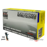 Nitrile Heavy Duty Gloves Mechanics Spraying Painting Cleaning LARGE x100 Tuff