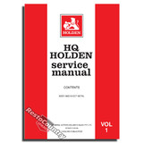 Holden GMH Factory HQ Vol 1. Service Manual. Body +Sheet Metal NEW workshop book