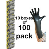 Nitrile Heavy Duty Protective Gloves Mechanics Painting Spray EXTRA LARGE x1,000