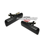 Ford Black Door Handles Pair x2 Left + Right XH falcon fairlane fairmont