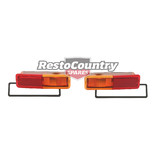 Ford Side Indicator Repeater Lights Rear 1/4 Panel XA XB XC ZF ZG ZH pair