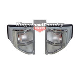 Toyota Landcruiser 78 79 Series Clear Chrome Indicators