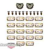 Holden Front Windscreen Moulding Clip Screw kit HQ HJ HX HZ WB mould surround
