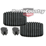 Holden EJ EH Brake +Clutch Pedal Pad +Bump Stop kit x4 Manual rubber