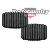 Holden Brake +Clutch Pedal Pad x2 EJ EH Manual rubber