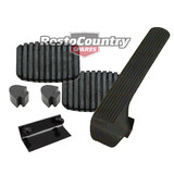 Holden EJ EH Brake +Clutch +Accelerator Pedal Pad +Bump Stop kit x5 Manual rubber