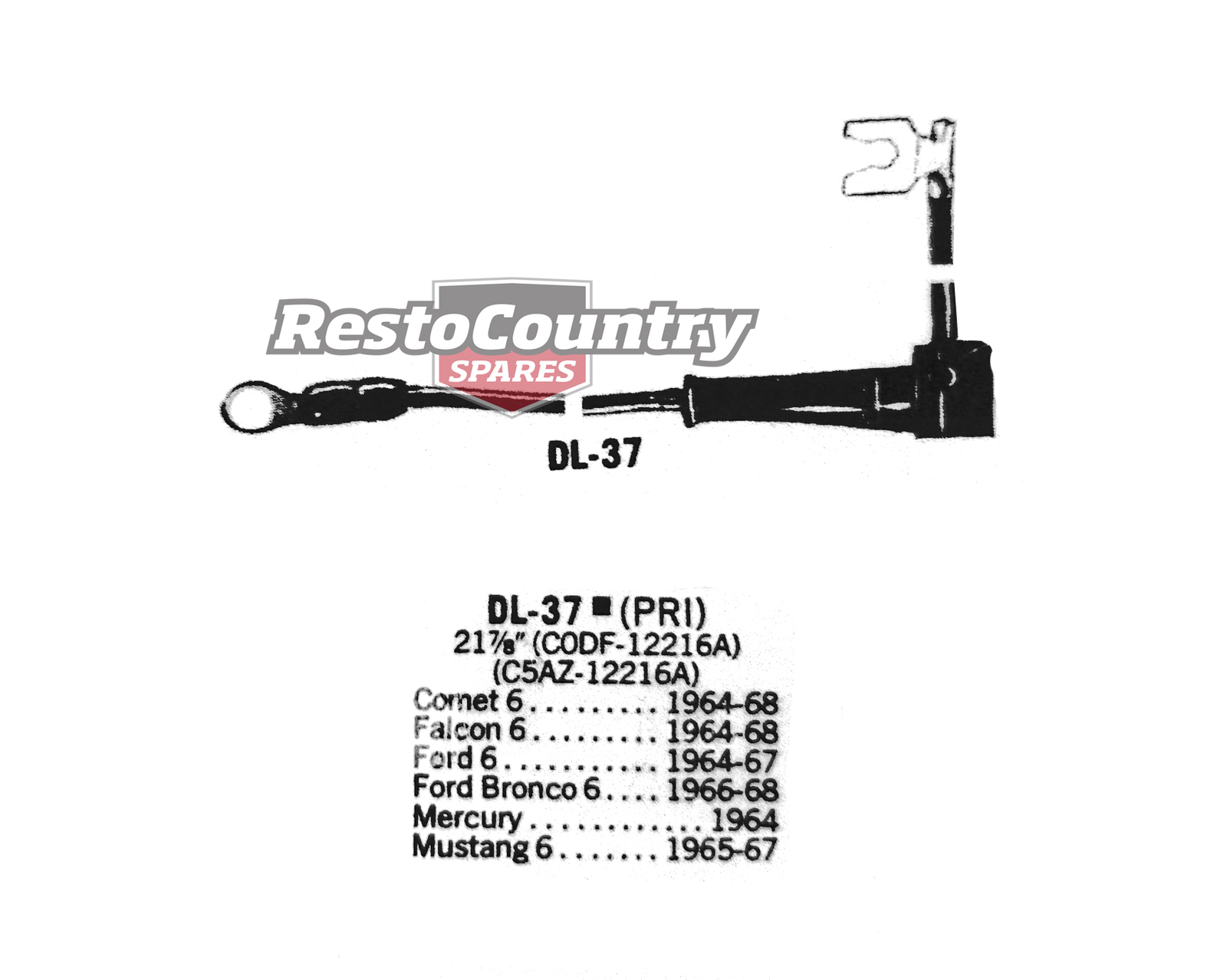 Ford Distributor Primary Lead Ignition Wire DL-37 6cyl