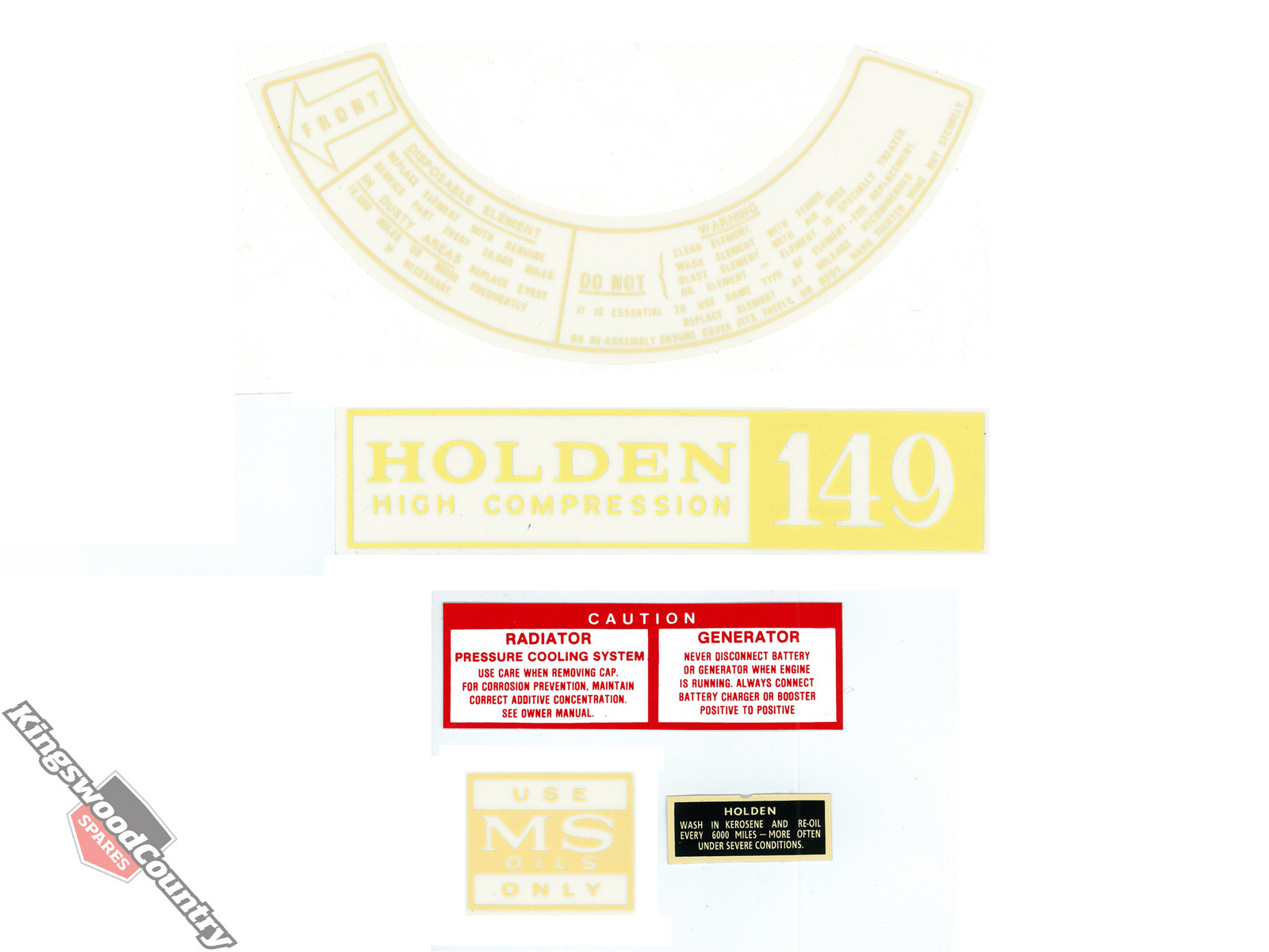 1 of 3 types Holden Fuse Cover Lid Decal HX HZ WB sticker label