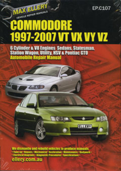 holden commodore workshop repair manual vt vu vx vy vz 1997 2007 rh kingswoodcountry com au Holden Statesman Deville wh statesman workshop manual pdf