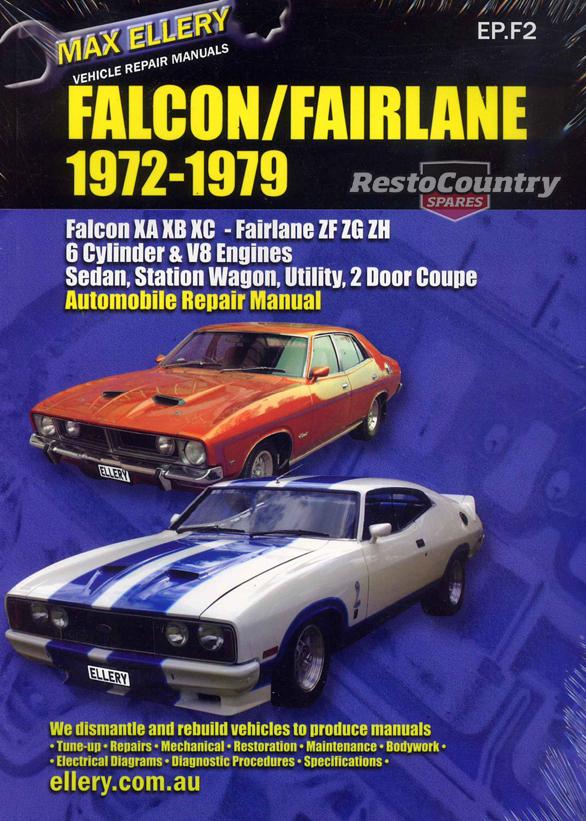 Ford Falcon Fairlane XA XB XC ZF ZG ZH Factory Workshop ... on xg falcon ute, xw falcon ute, ea falcon ute, fg falcon ute, xp falcon ute, xl falcon ute, ford falcon ute,