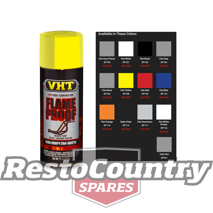 Vht High Temperature Spray Paint Flameproof Flat Yellow
