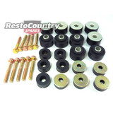 Holden Body Mount + Bolts Kit HQ HJ HX HZ WB UTE or VAN rubber bush chassis