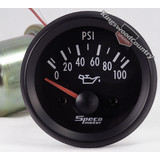 Speco 2 Electrical Oil Pressure Gauge 100psi Black NEW