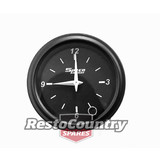 "Speco 2"" Black Analog Clock 12 Volt Gauge"
