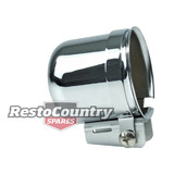 Speco 2 5/8 Chrome Steel Gauge Pod + Mounting Kit Clamp Type holder cup