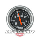 Speco 2 5/8 Mechanical Boost /Vac Gauge 20psi Black Performance Series NEW turbo
