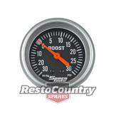 Speco 2 5/8 Mechanical BOOST/VAC Gauge 30psi Black Performance Series NEW turbo