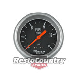 Speco 2 5/8 Fuel Pressure Gauge Mechanical 15psi Black Performance Series NEW