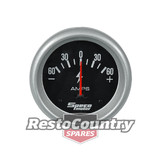 Speco 2 5/8 Amps / Ammeter Gauge 60-0-60 Black Performance Series NEW battery