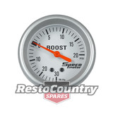 Speco 2 5/8 Mechanical Boost /Vac Gauge 20psi Silver Pro Series NEW turbo charge