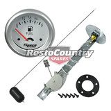 "Speco 2 5/8"" Electrical Fuel Level Gauge + Sender Assembly Silver Pro Series 12V"