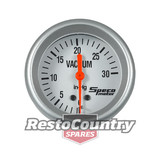 Speco 2 5/8 Mechanical Vacuum Gauge 30 IN-HG Silver Pro Series NEW vac manifold
