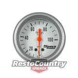 Speco 2 5/8 Mechanical Oil Pressure Gauge 100psi 3.6m Tube Silver Pro Series