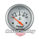 Speco 2 5/8 Electrical Water Temp Gauge 40-120 Silver Pro Series coolant liquid