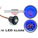"Speco LED Globe +Holder +Loom Assembly BLUE Suit 2"" Mechanical. ALL 2 5/8"" Gauge"