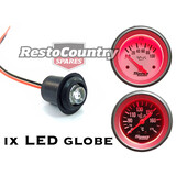 "Speco LED Globe +Holder +Loom Assembly RED Suit 2"" Mechanical. ALL 2 5/8"" Gauge"