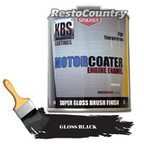 KBS Motor Coater Engine Enamel 500mls GLOSS BLACK High Temperature Paint