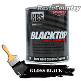 KBS Chassis Coater BlackTop One 1 Litre GLOSS BLACK Car Truck paint rust