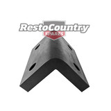 Natural Rubber Corner Safety Pad / Guard L BLACK 167mm x 70mm High Quality bump