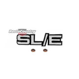 Holden Commodore VH Die Cast - SLE - Grille Badge / Emblem +Clips. SL/E