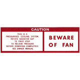Holden Beware Of Fan Decal HQ HJ HX  caution  sticker  label  caution