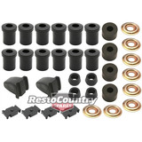 Holden Rear Suspension Rubber Bush Kit Spring Pad + Bump + Shackle FE FC All