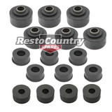 Holden 1 Ton Tonner Body Mount Kit HQ HJ HX HZ WB rubber bush chassis