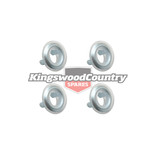 Holden CHROME Door Lock Ferrule HK HT HG HQ HJ HX HZ WB LC LJ LH LX collar knob x4