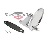 Universal Chrome Door Mirror Round Head+Stalk Left or Right Ford Holden Valiant