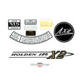 Holden HR - X2 - 186 6cyl Engine +Air Cleaner Decal Kit +Rocker Cover +Oil