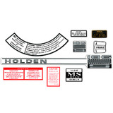 Holden - 186S - Engine Decal Kit HR HK HT HG Air Cleaner Oil Radiator Caution