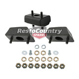 Holden Engine + Gearbox Mount + Nuts FX FJ FRONT + REAR Grey Motor rubber trans
